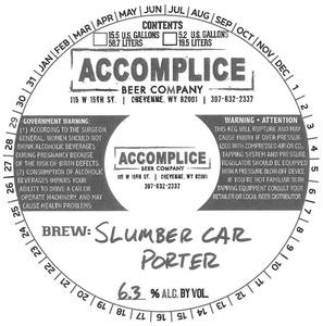 Accomplice Beer Company Slumber Car Porter