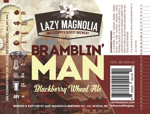 Lazy Magnolia Brewing Company Bramblin Man