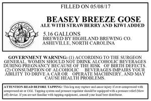 Highland Brewing Co Beasey Breeze Gose
