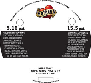 Mother's Brewing Company Gb's Original Dry