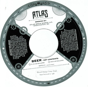 Atlas Brew Works Blood Orange Gose