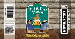 Mountain Town Brewing Co Jay & Tony's Mustang Golden Ale