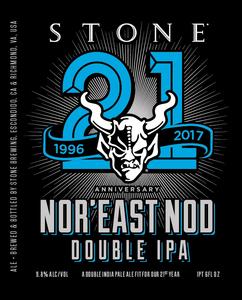 Stone Anniversary Nor'east Nod Double IPA May 2017