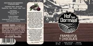 Hof Ten Dormaal Frambuesa Y Chocolate