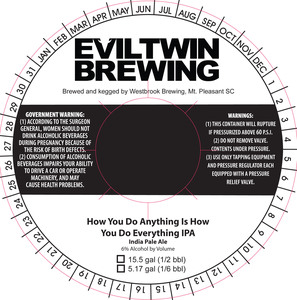 Evil Twin Brewing How You Do Anything Is How You Do Every*