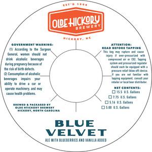 Olde Hickory Brewery Blue Velvet