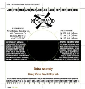 New Holland Brewing Company Baltic Anomaly