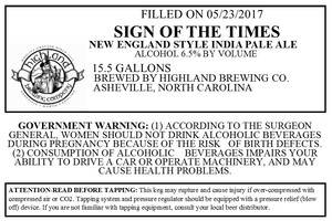Highland Brewing Co Sign Of The Times