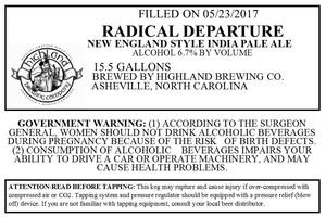 Highland Brewing Co Radical Departure