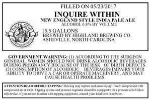 Highland Brewing Co Inquire Within