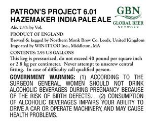 Patron's Project 6.01 Hazemaker Ipa