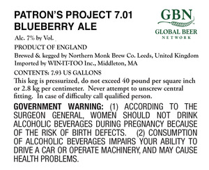 Patron's Project 7.01 Blueberry Ale