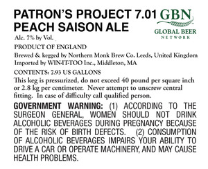Patron's Project 7.01 Peach Saison