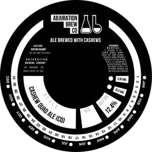 Abjuration Brewing Company Cashew Quad Ale (cq)