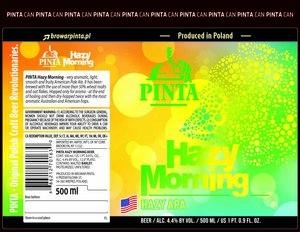 Pinta Hazy Morning