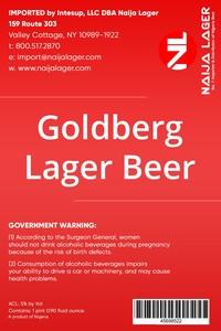 Goldberg Lager Beer Premium Lager Beer