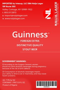 Foreign Extra Distinctive Quality Stout Beer