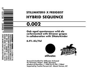 Stillwater Artisanal Hybrid Sequence 0.002
