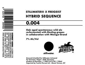 Stillwater Artisanal Hybrid Sequence 0.004