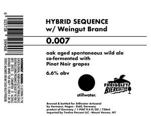 Stillwater Artisanal Hybrid Sequence 0.007
