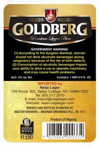Goldberg Premium Lager Beer